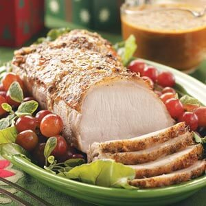 Holiday Pork Roast with Ginger Gravy
