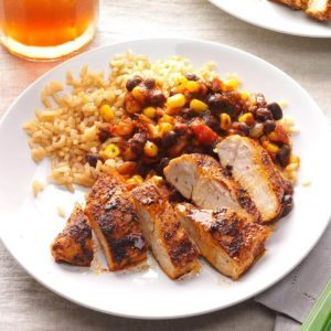 Top 10 mexican dinner recipes taste of home get recipe black bean chicken with rice forumfinder Gallery