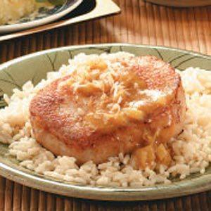 Curry-Glazed Pork Chops