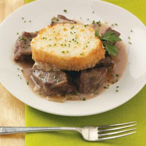 Beef Tips & Caramelized Onion Casserole
