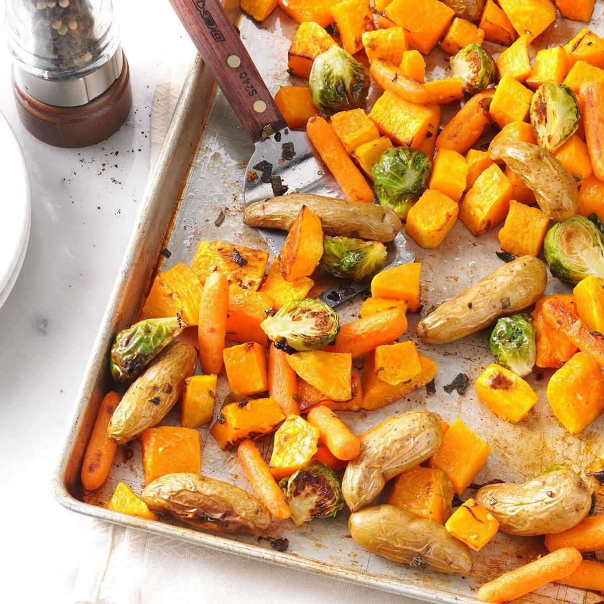 Roasted Vegetables With Sage Recipe Taste Of Home