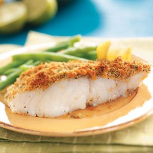 Crumb-Topped Baked Fish for Two Recipe | Taste of Home