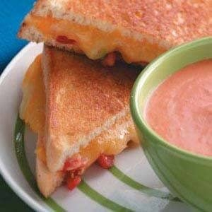 Grilled Tomato-Cheese Sandwiches for Two