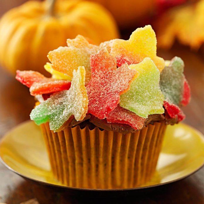 Autumn Leaves Cupcakes