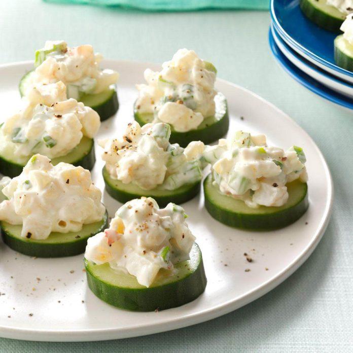 California: Shrimp & Cucumber Rounds