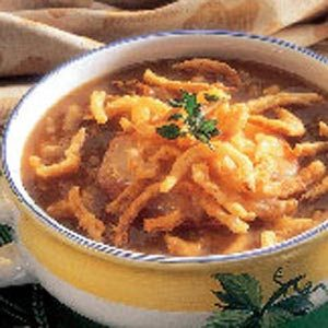 Oniony Mushroom Soup