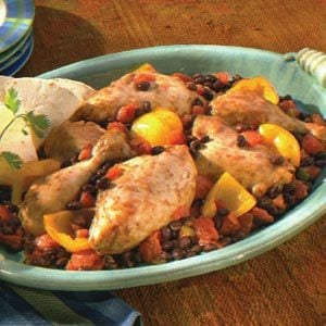 Fiesta Chicken with Peppers & Black Beans