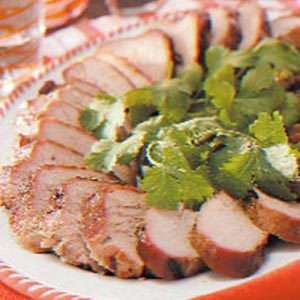 Grilled Cilantro Pork Tenderloin