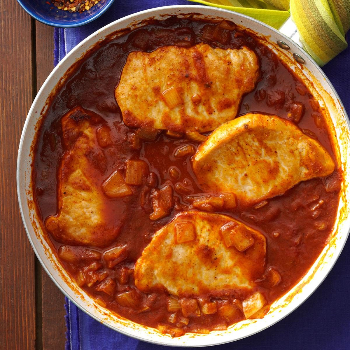 Spicy Tomato Pork Chops Recipe