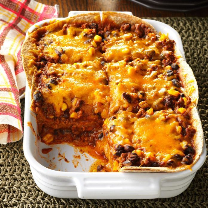 Day 8: Chili Tortilla Bake