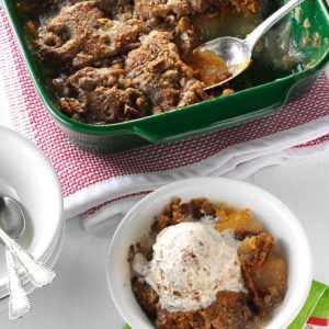 Apple-Pecan Gingerbread Cobbler