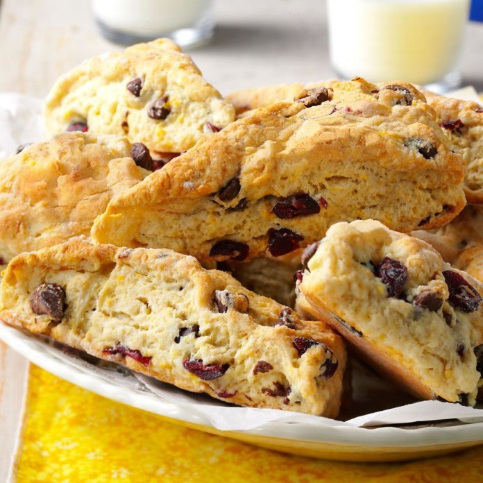 Chocolate Chip-Cranberry Scones