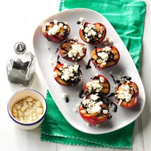 Balsamic-Goat Cheese Grilled Plums