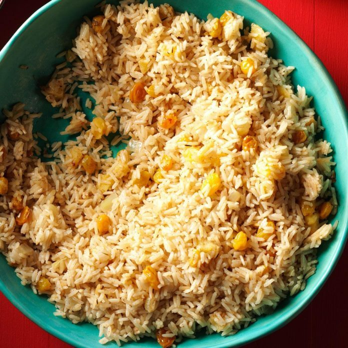 Mississippi: Rice Pilaf with Apples & Raisins