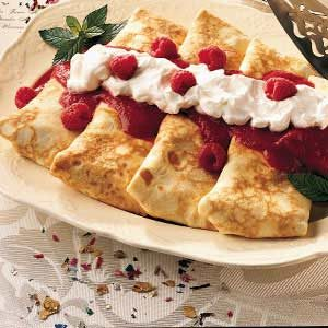 Fruit-Topped Blintzes
