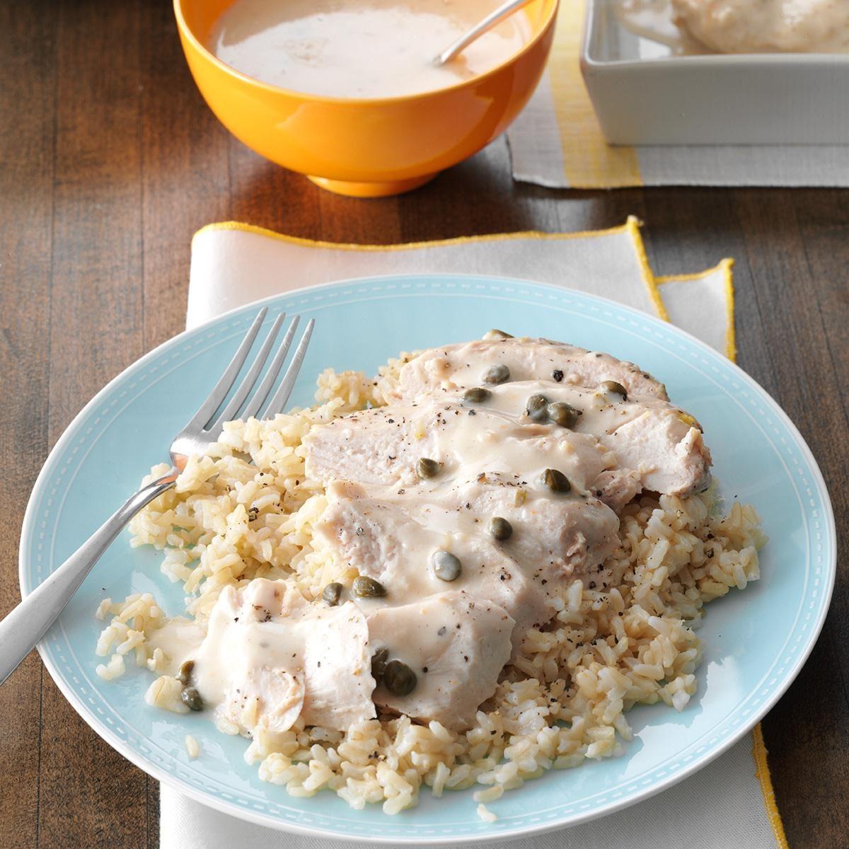 Creamy Garlic-Lemon Chicken Recipe