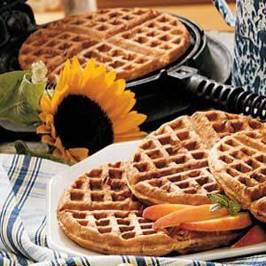 Oatmeal Nut Waffles