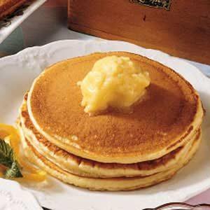 Pancakes With Orange Honey Butter Recipe Taste Of Home