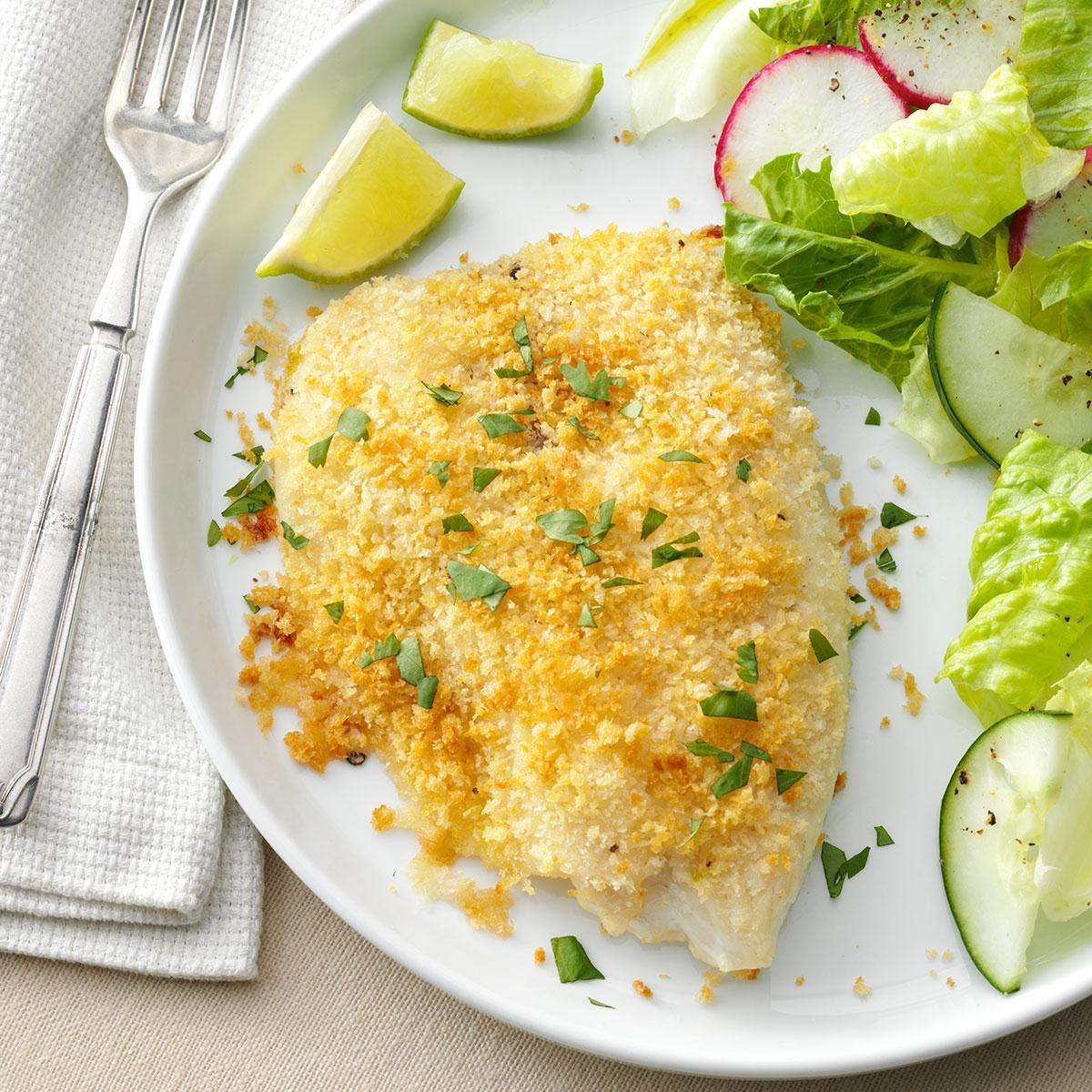 Crunchy Oven Baked Tilapia Recipe Taste Of Home