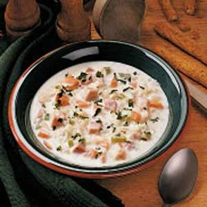 Creamed Cabbage and Ham Soup
