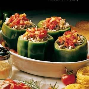 stuffed green pepper recipe taste of home