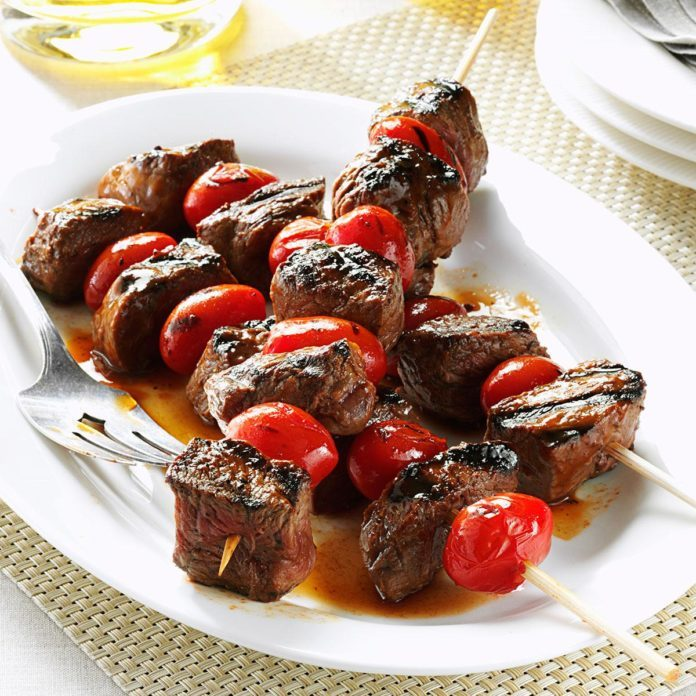 Balsamic-Glazed Beef Skewers