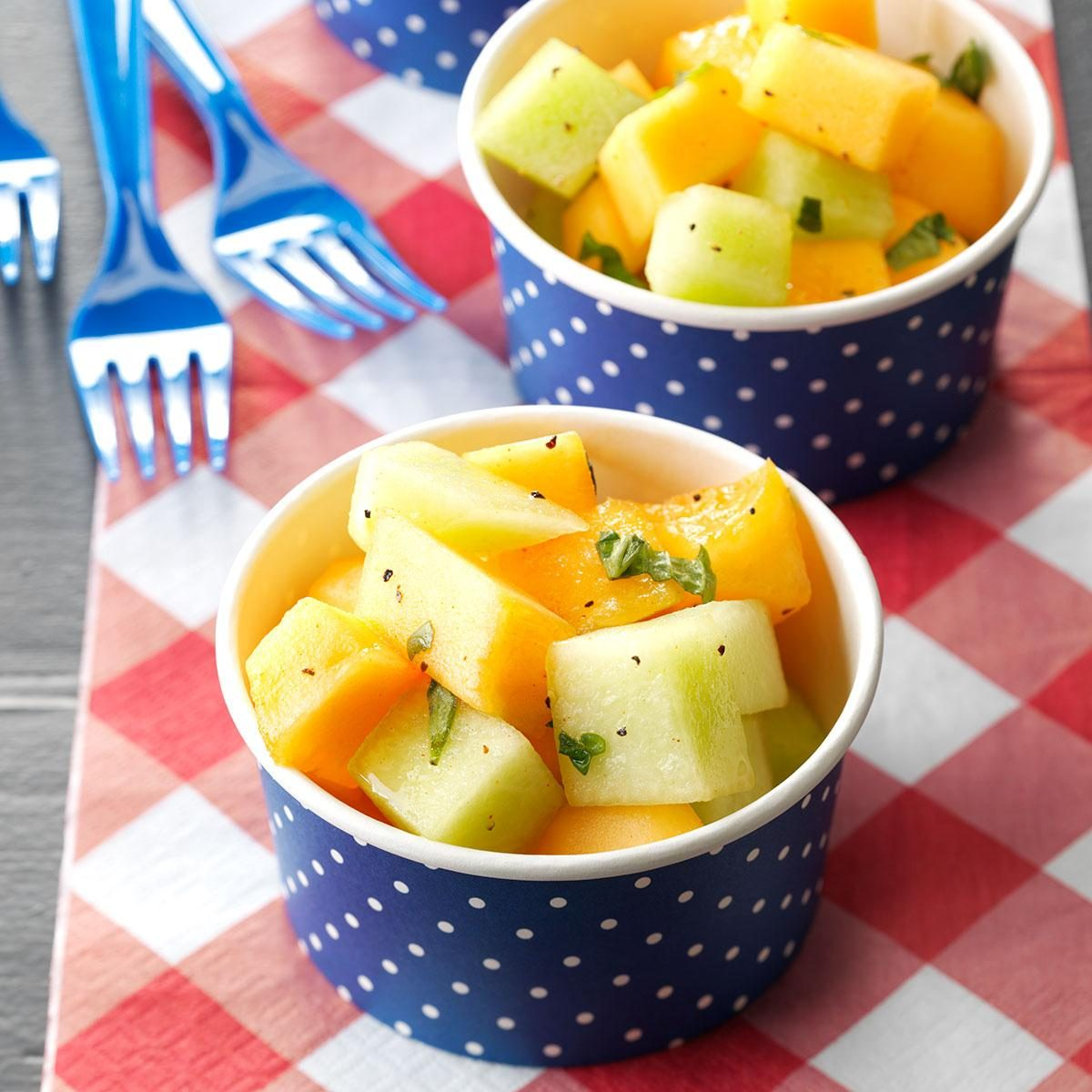 Honey-Melon Salad with Basil