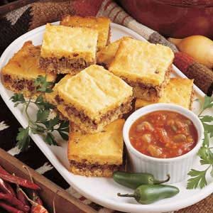 Zesty Beef Cornbread Dinner Recipe | Taste of Home