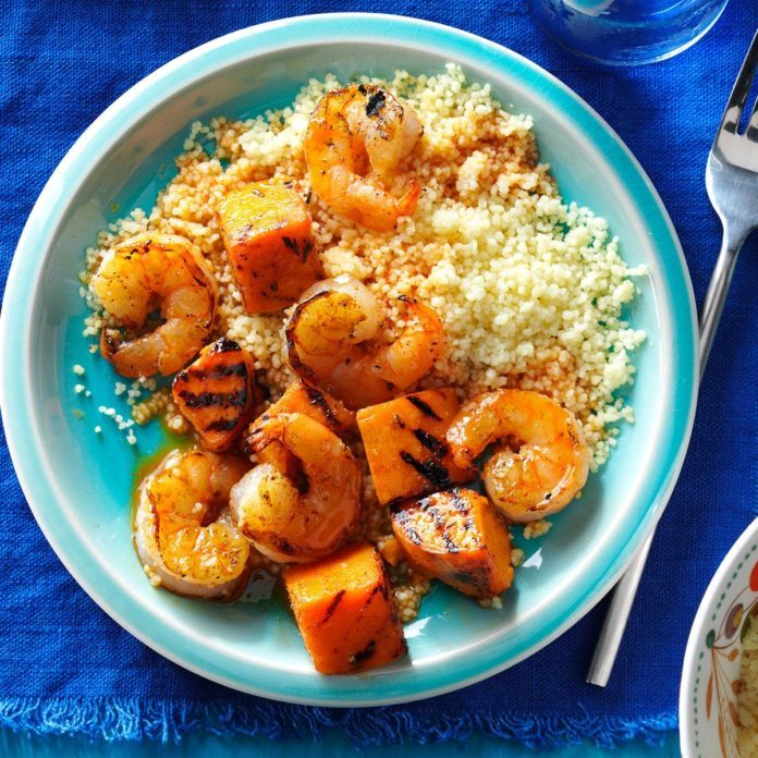 Shrimp & Sweet Potato Skewers