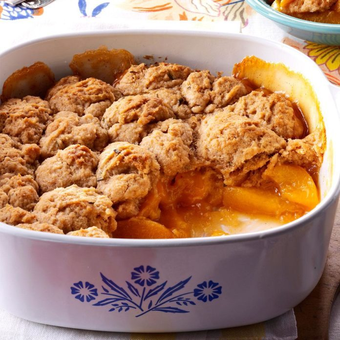 Peach-Rosemary Cobbler