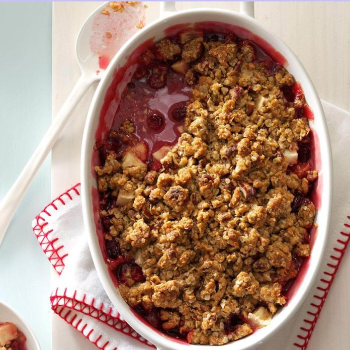 Indiana: Cranberry-Apple Nut Crunch