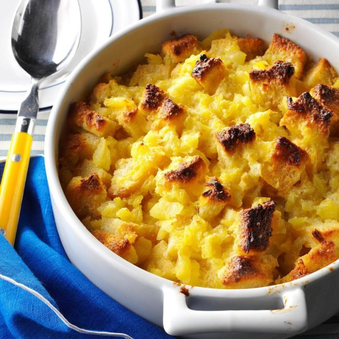Hawaii: Scalloped Pineapple Casserole