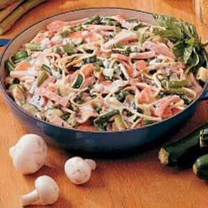 Ham and Vegetable Linguine