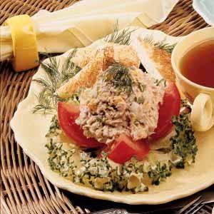 Tomatoes and Tuna Salad