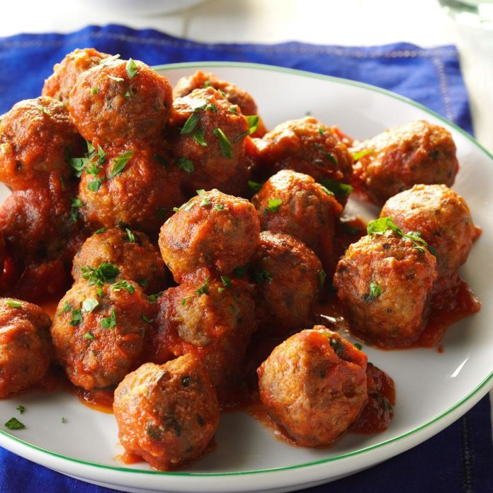 Slow-Cooked Italian Meatballs