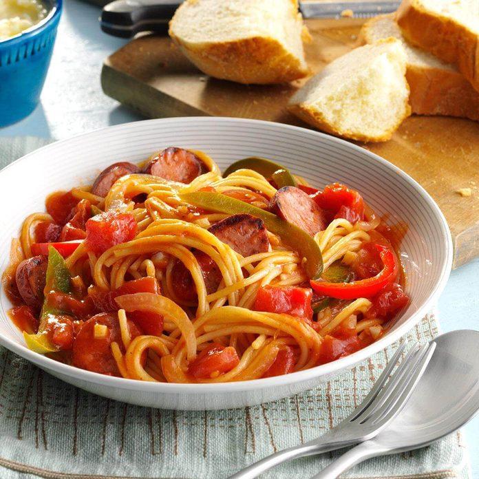 Keep spaghetti staples on hand.