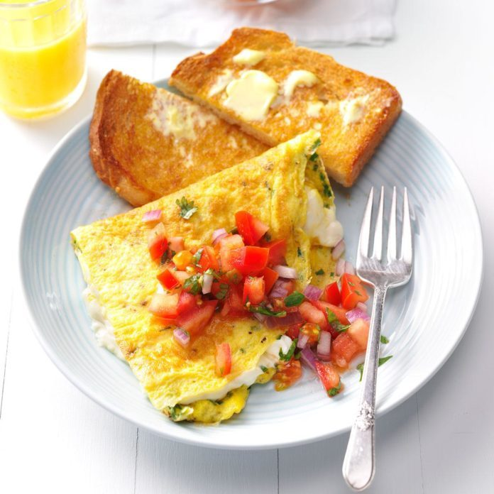 Day 7 Breakfast: Cream Cheese & Chive Omelet