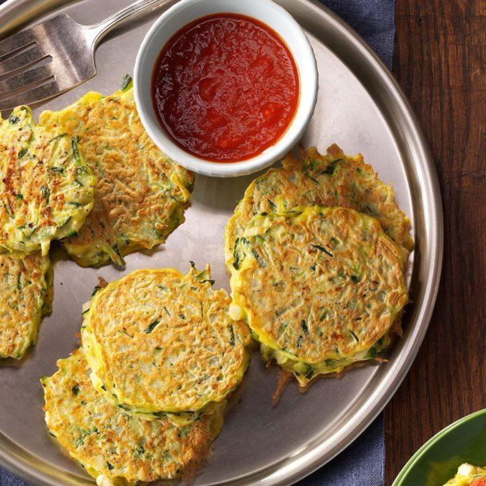 Golden Zucchini Pancakes
