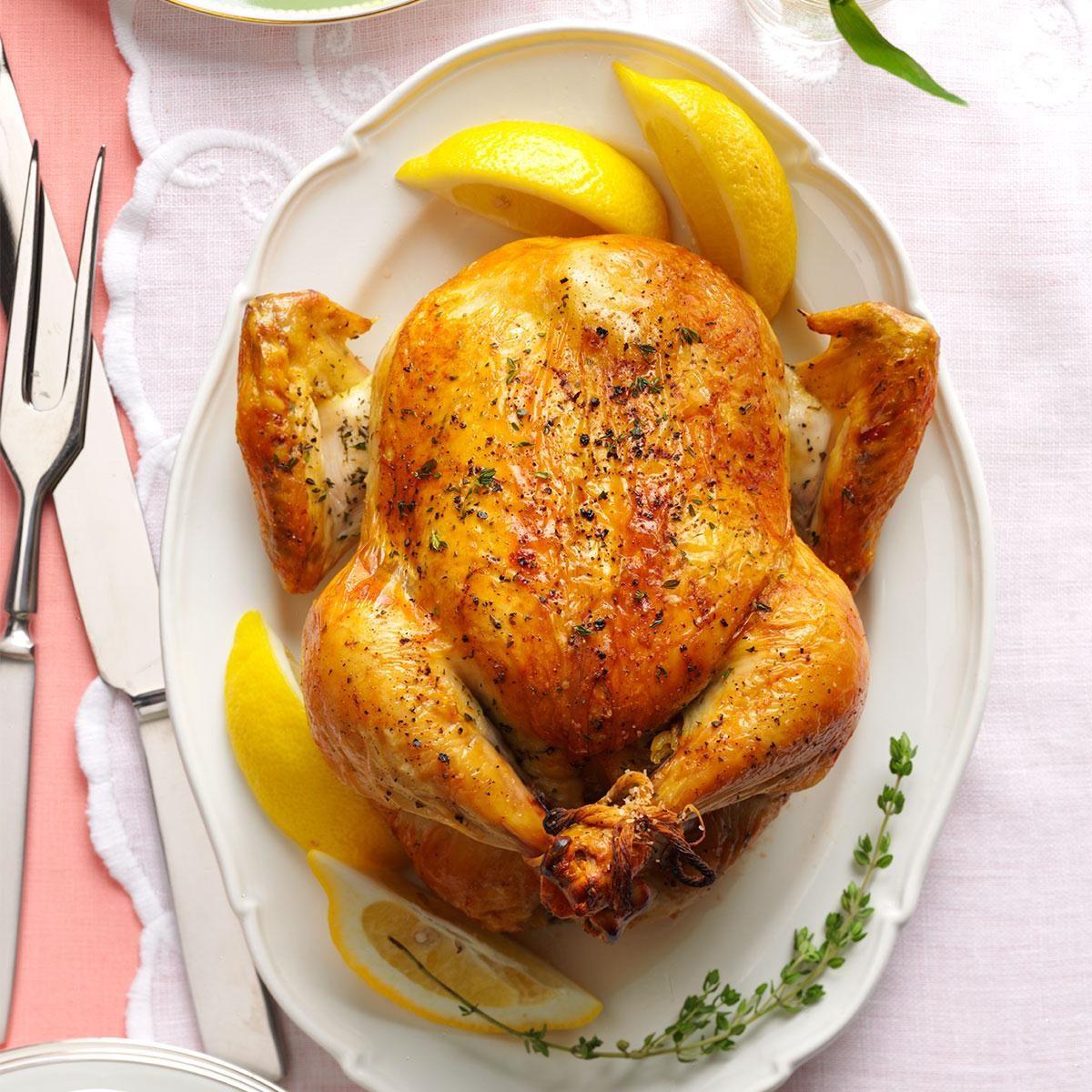 Lemon & Thyme Roasted Chicken Recipe