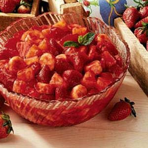Strawberry-Glazed Fruit Salad