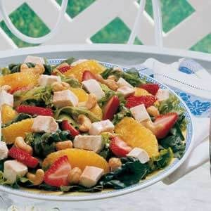 Strawberry-Orange Chicken Salad
