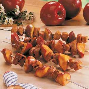 Pork and Apple Skewers