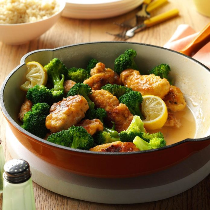 My Mother's Lemony Chicken with Broccoli