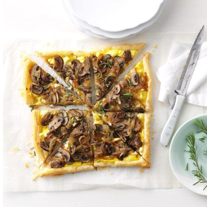 Portobello & Onion Tart