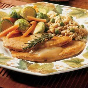 Herb-Glazed Turkey Slices