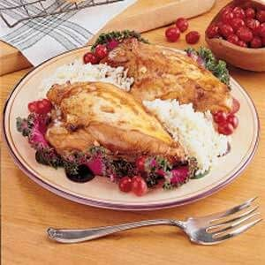 Cranberry Chicken for Two