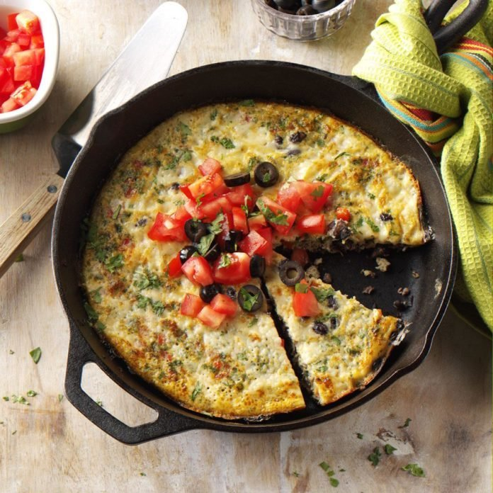 Black Bean & White Cheddar Frittata