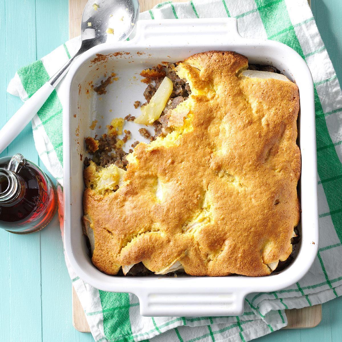 Sausage & Apple Cornbread Bake Recipe