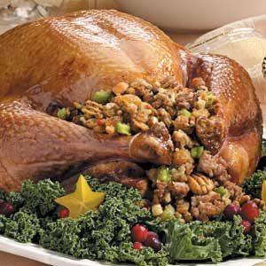 Turkey with Sausage-Pecan Stuffing