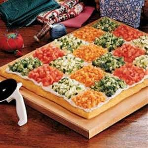 Patchwork Veggie Pizza